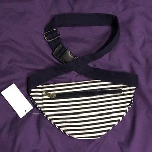 Zumiez Bags - NWT Zumiez Striped Polka Dot Fanny Pack 3 Pockets